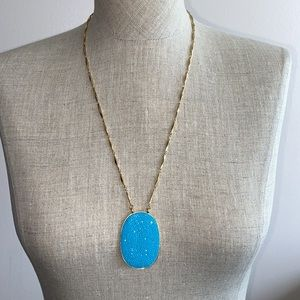 Kate Spade long necklace in blue